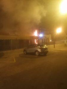 Feuer im Ladenlokal